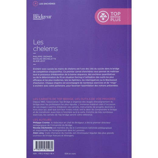 CARNETS DE TOP BRIDGE 1 - LES CHELEMS